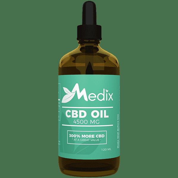 Medix CBD Oil – 100% Natural Flavor THC-Free (4500 MG) Medix CBD
