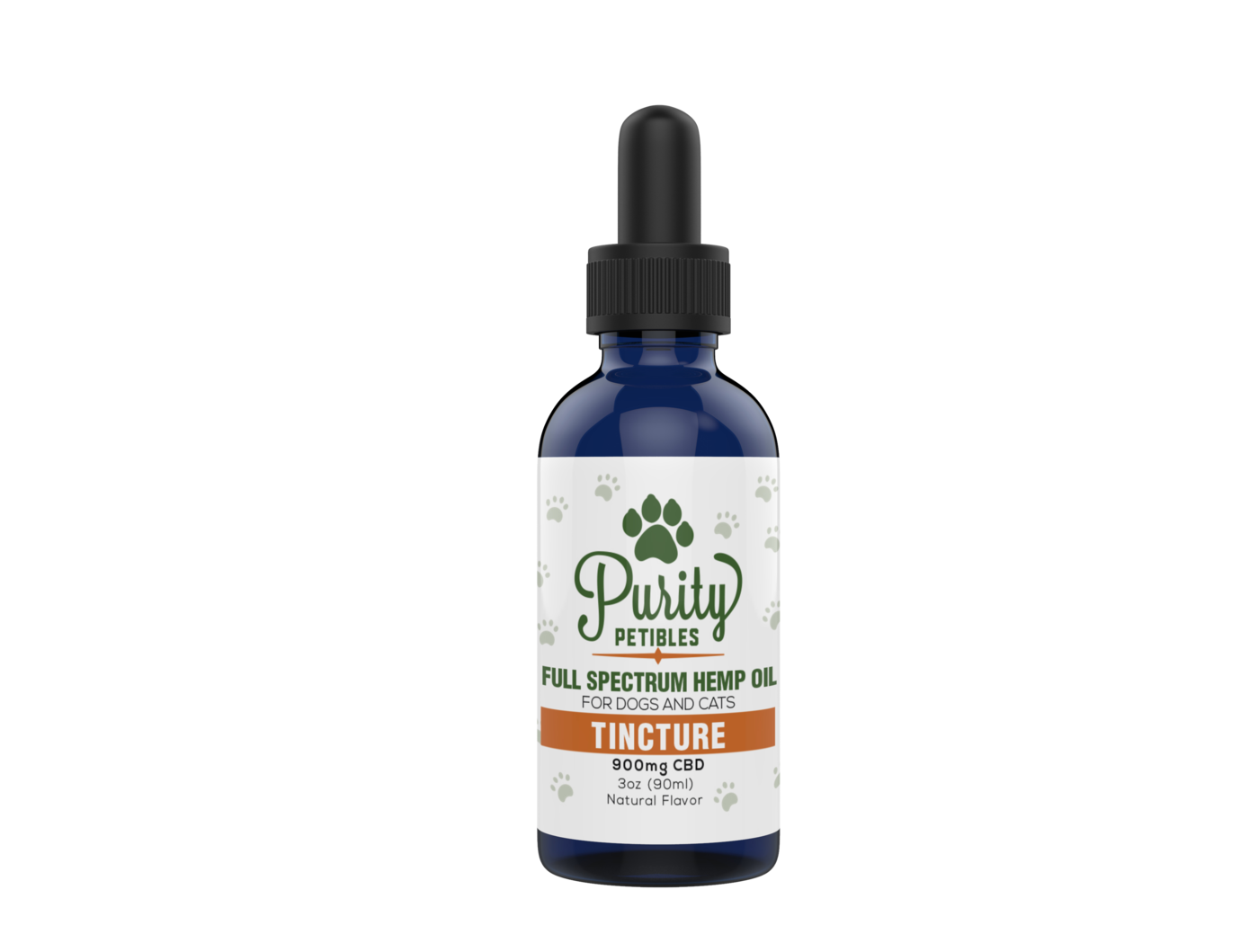 FULL SPECTRUM HEMP OIL PET CBD TINCTURE 900MG Purity Petibles