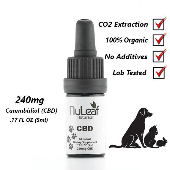 Full Spectrum Pet CBD Oil, High Grade Hemp Extract (50mg/ml) NuLeaf Naturals
