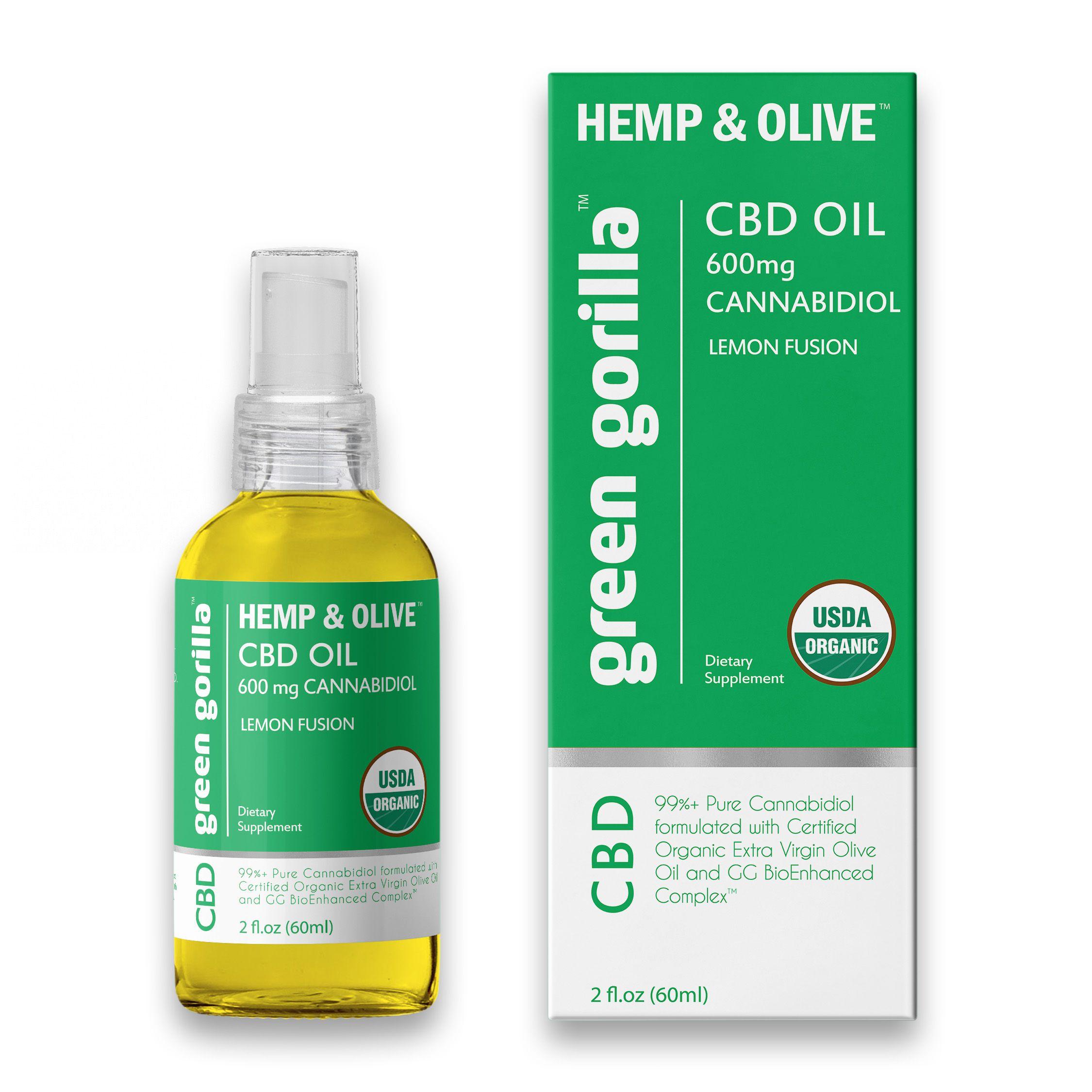 Pure CBD Oil 600 mg (Lemon Flavor) Green Gorilla