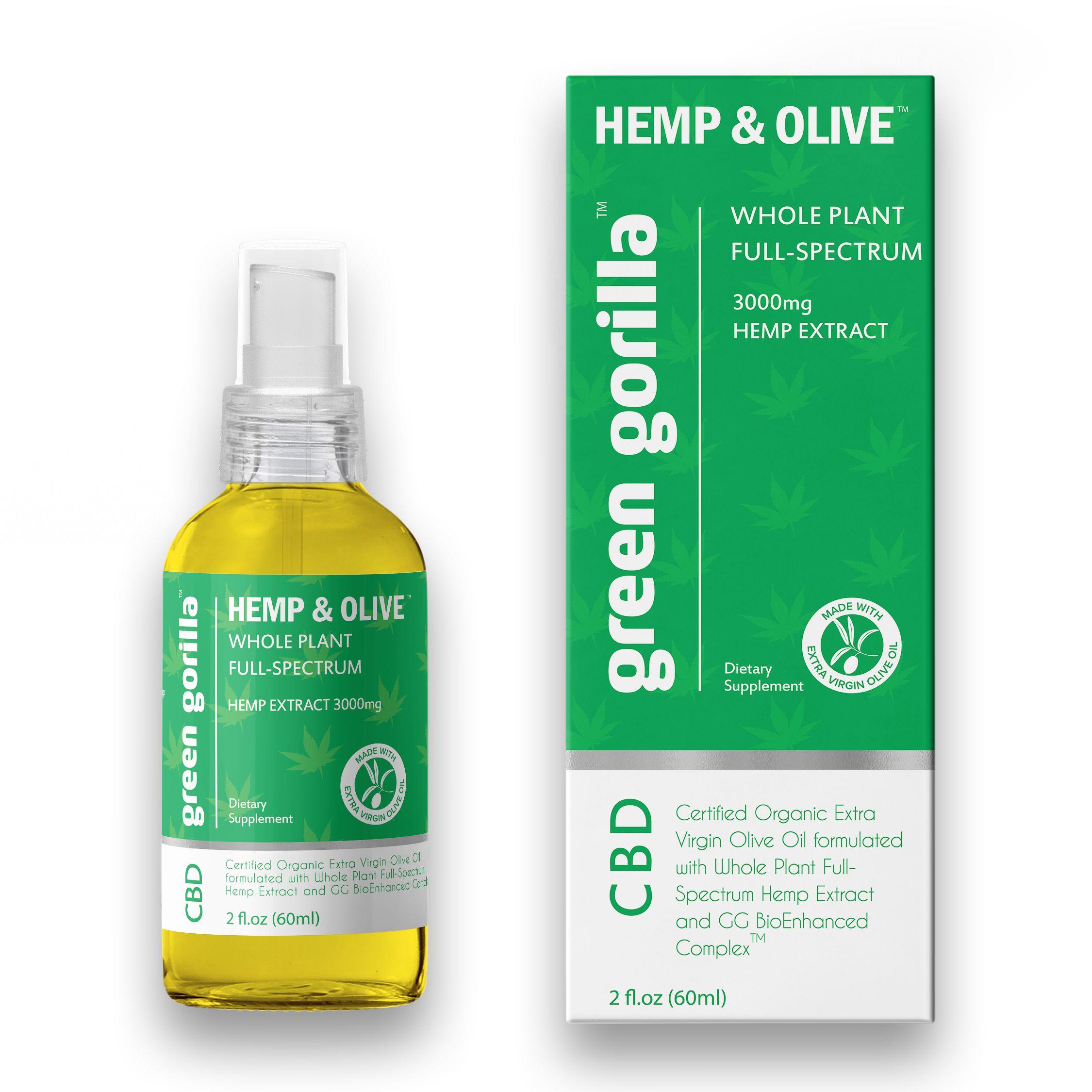 Full Spectrum CBD Oil 3000 mg Green Gorilla