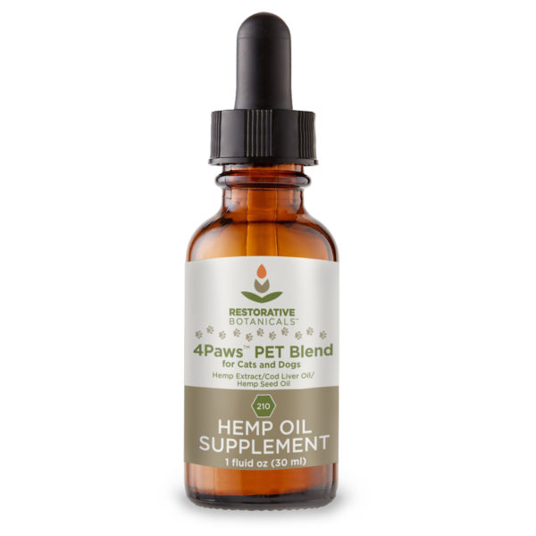 4Paws PET Blend™ Hemp Oil Extract Restorative Botanicals