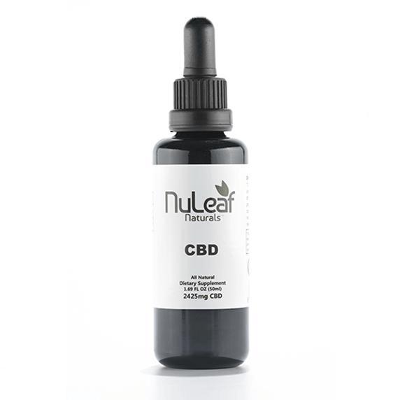 2425mg Full Spectrum CBD Oil, High Grade Hemp Extract (50mg/ml) NuLeaf Naturals