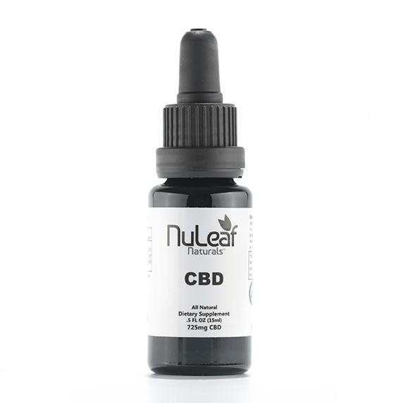 725mg Full Spectrum CBD Oil, High Grade Hemp Extract (50mg/ml) NuLeaf Naturals