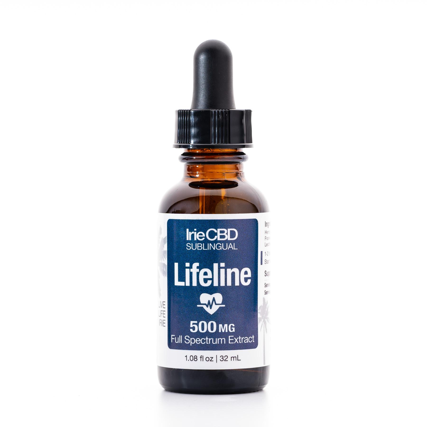Lifeline 500mg CBD Oil Tincture Irie CBD