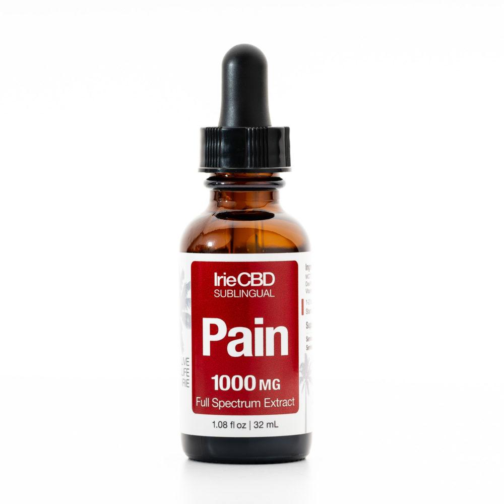 Pain 1000mg CBD Oil Tincture Irie CBD