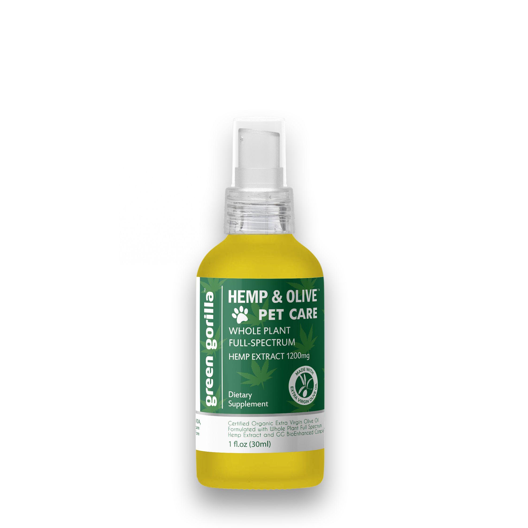 Full Spectrum CBD Oil For Pets 1200 mg Green Gorilla
