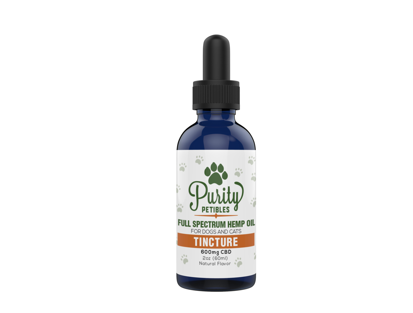 FULL SPECTRUM HEMP OIL PET CBD TINCTURE 600MG Purity Petibles