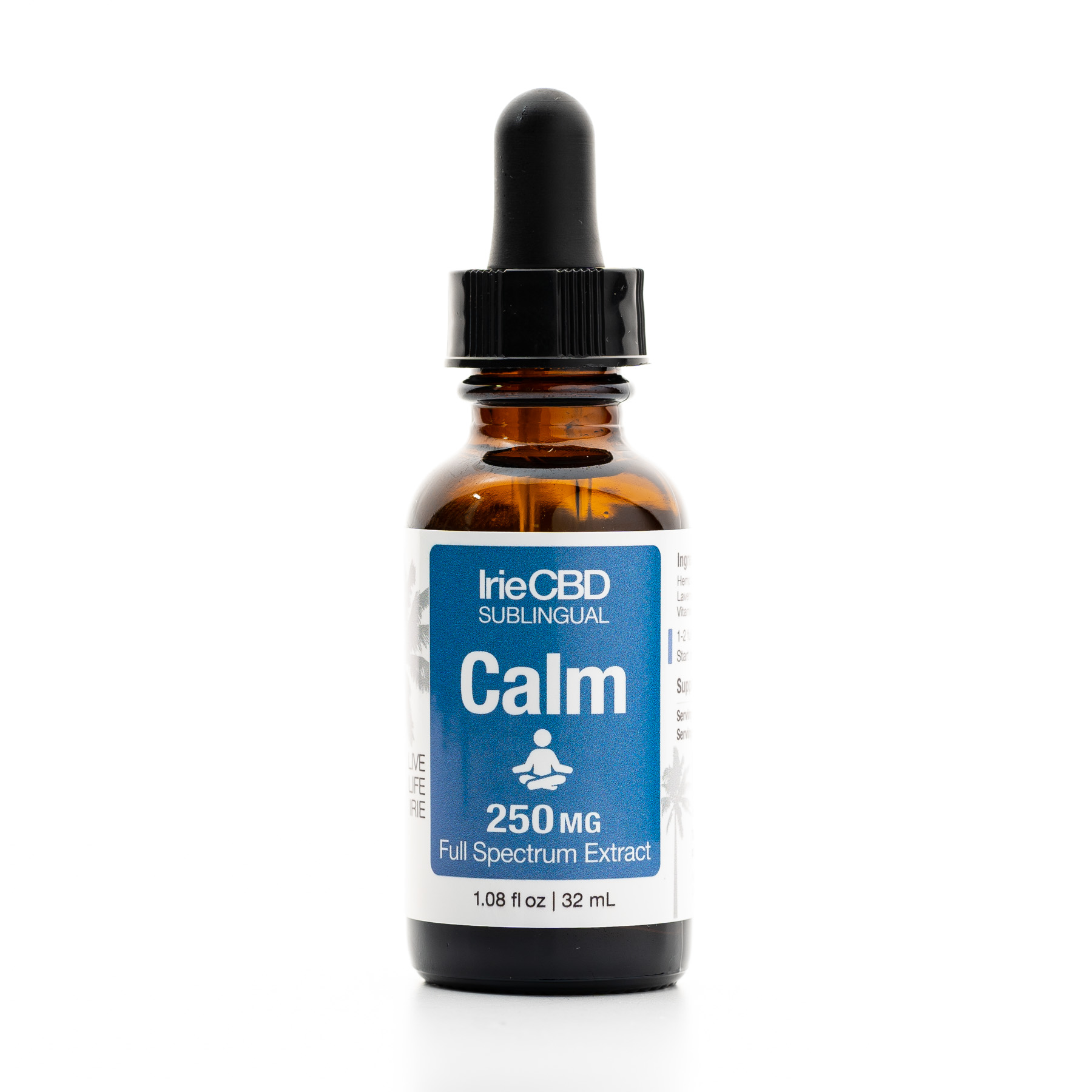 Calm 250mg CBD Oil Tincture Irie CBD