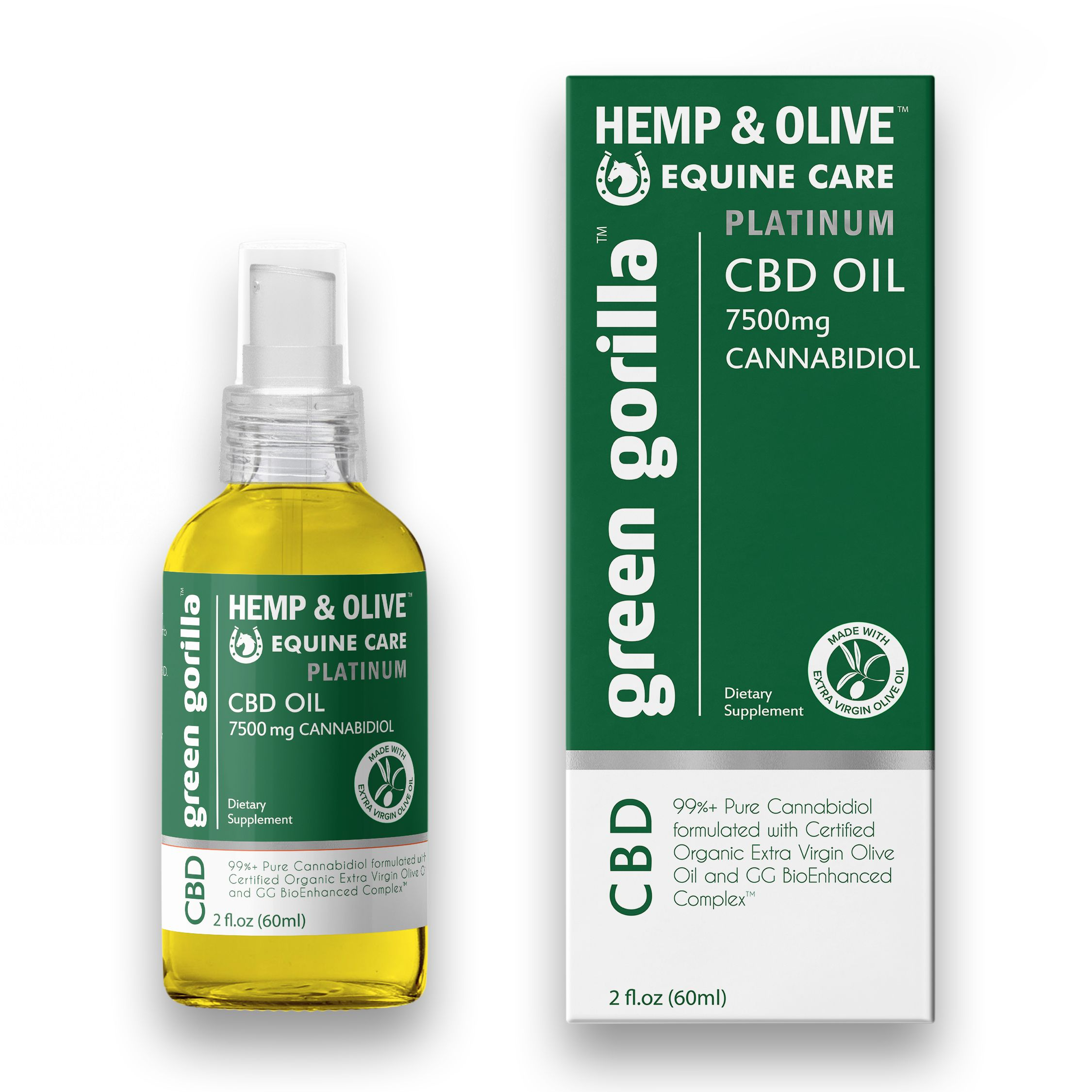 CBD Oil For Horses 7500 mg Green Gorilla