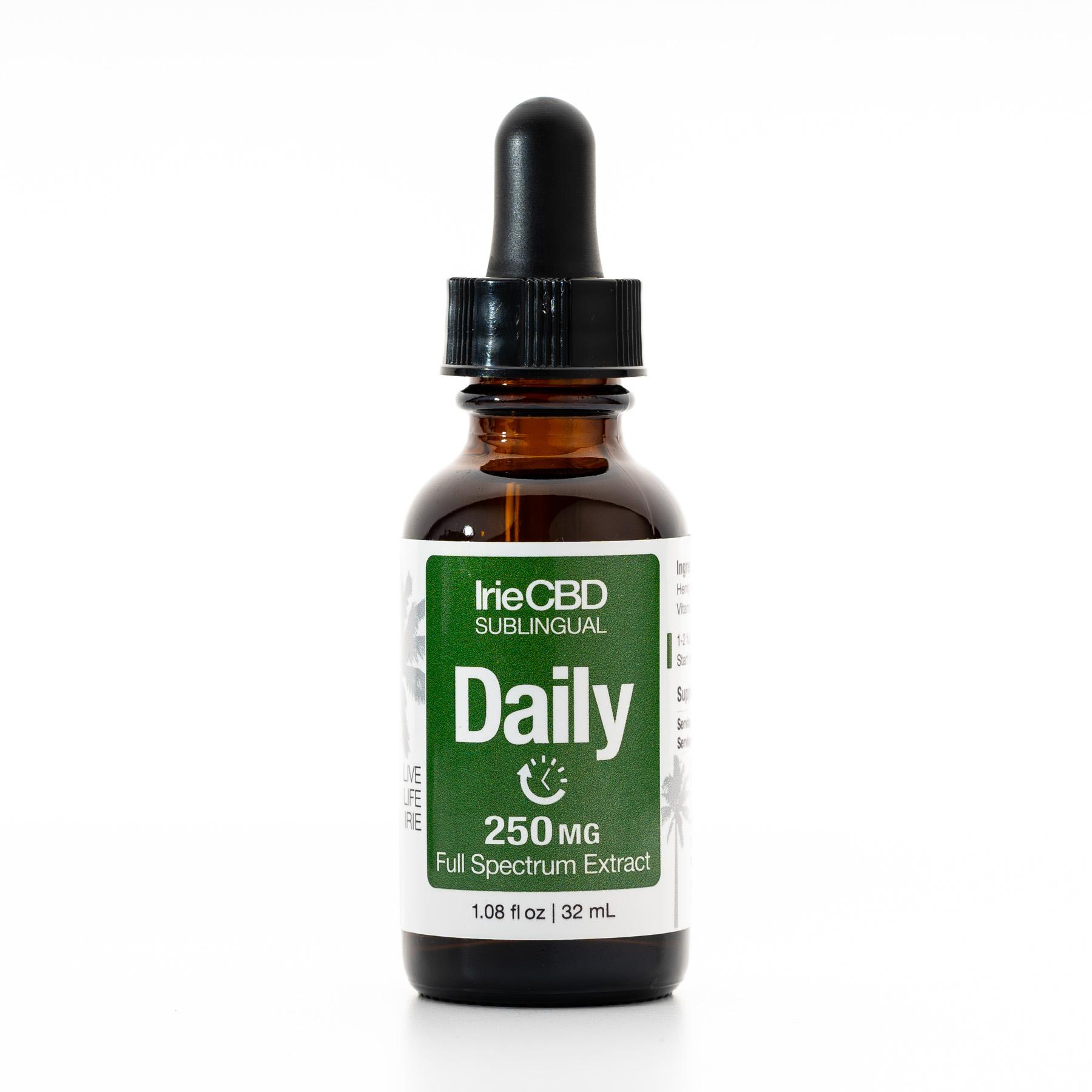 Daily 250mg CBD Oil Tincture Irie CBD