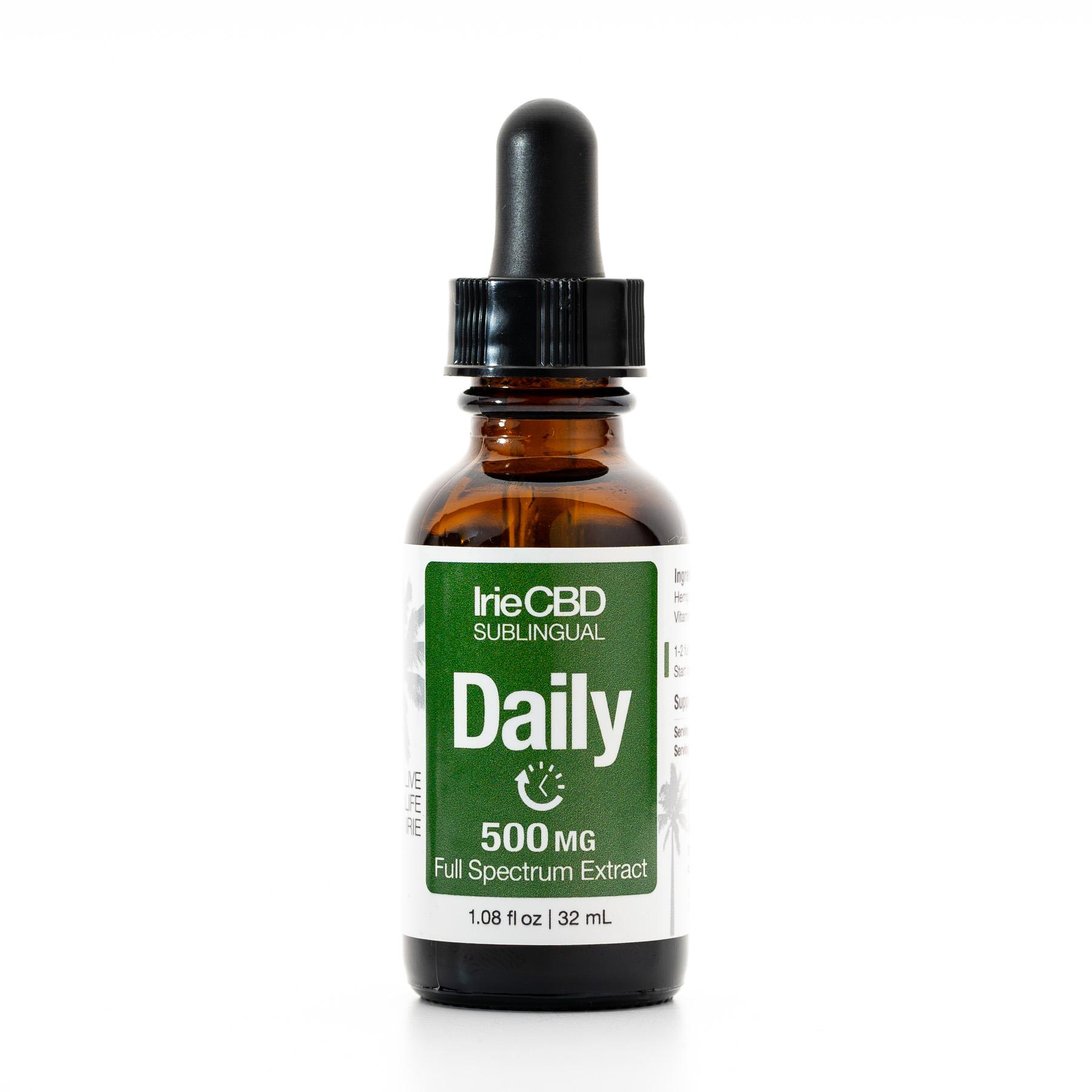 Daily 500mg CBD Oil Tincture Irie CBD