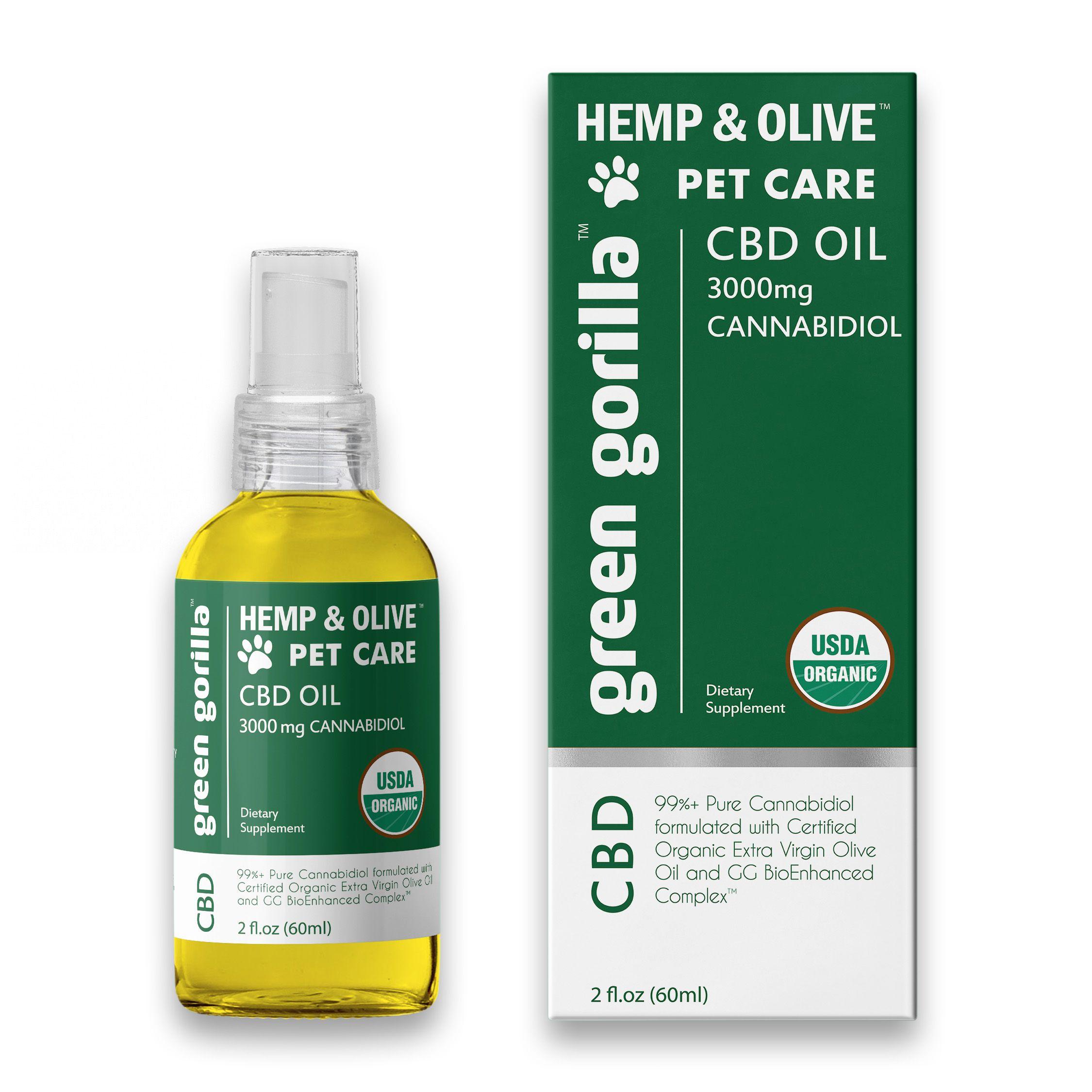 CBD Oil For Pets 3000 mg Green Gorilla