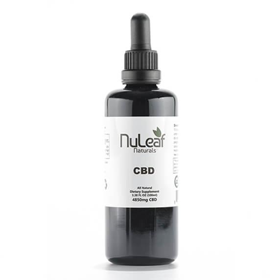 4850mg Full Spectrum CBD Oil, High Grade Hemp Extract (50mg/ml) NuLeaf Naturals