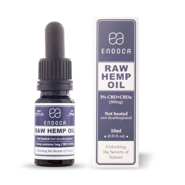RAW CBD OIL 30MG CBD+/ML (MEDIUM) Endoca