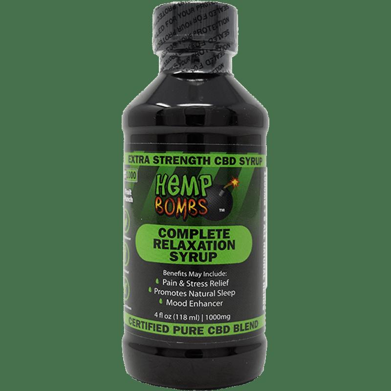 1000mg CBD Relaxation Syrup Hemp Bombs