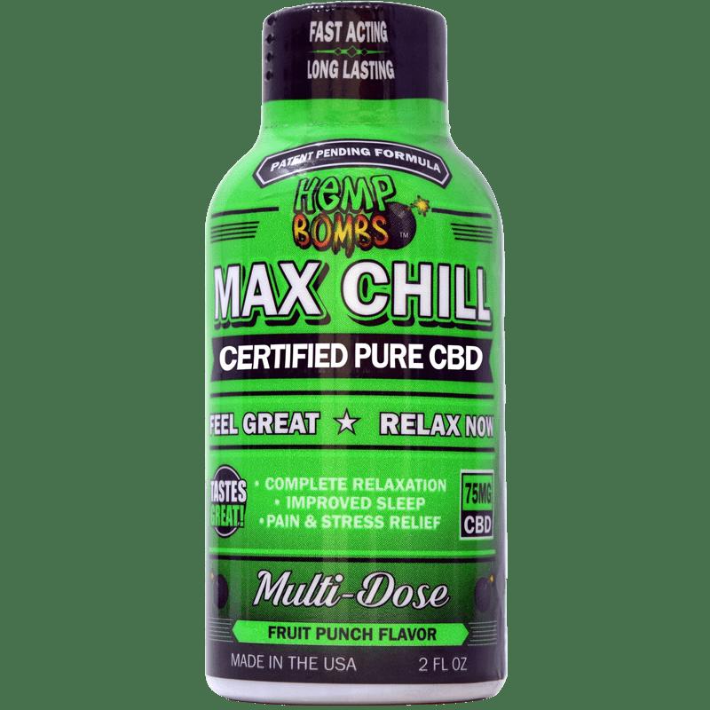 CBD Max Chill Relaxation Shot Hemp Bombs