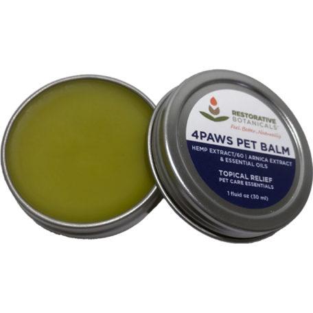 4Paws PET Hemp Extract Topical Relief Balm – 1 Ounce Restorative Botanicals