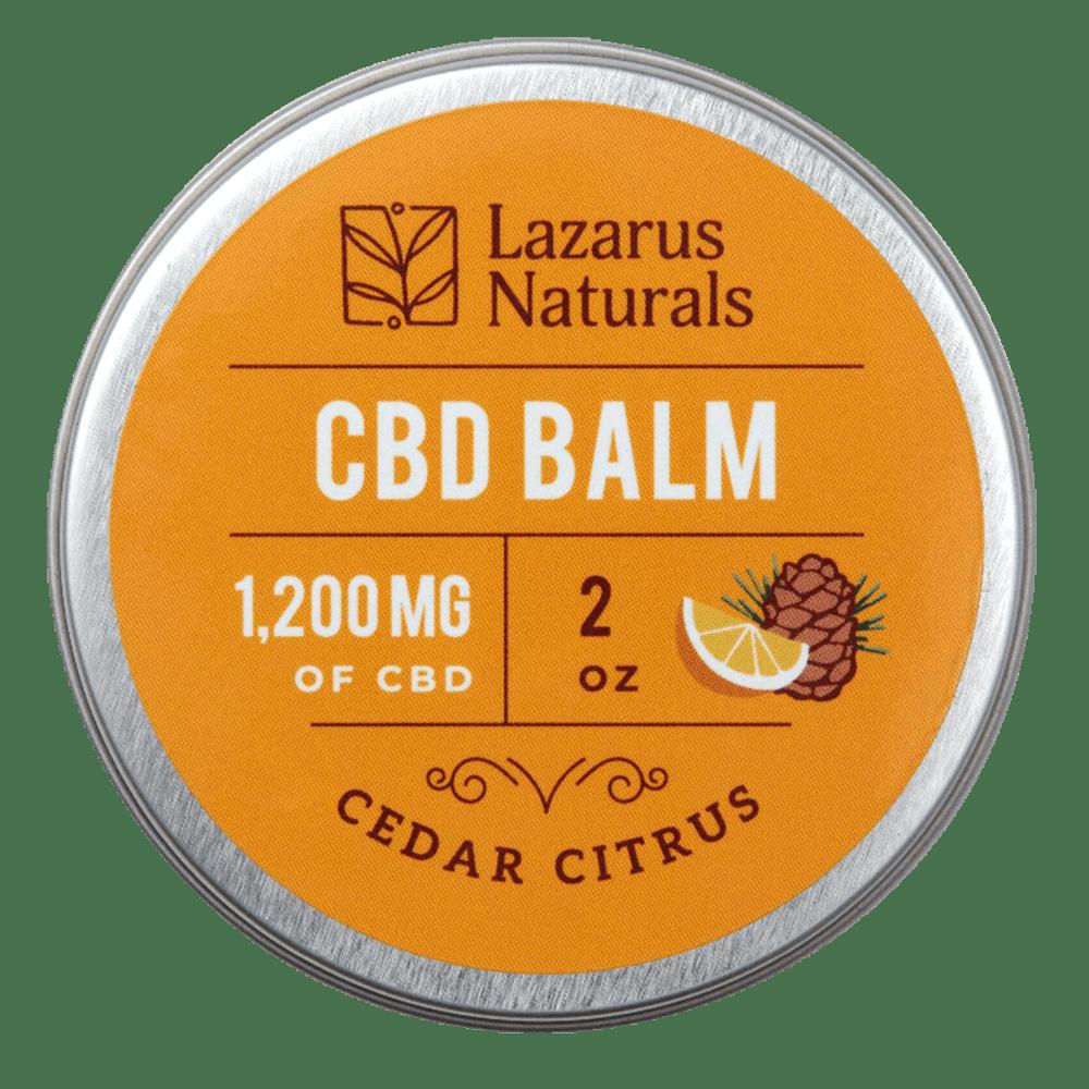 Cedar Citrus CBD Balm Lazarus Naturals