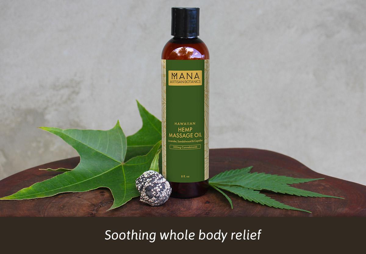 Hemp Massage Oil: Lavender, Sandalwood & Copaiba Mana Artisan Botanics