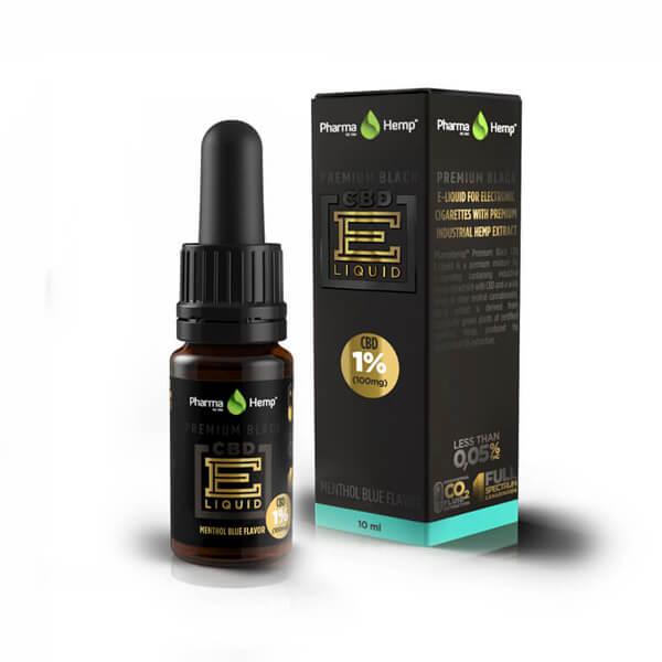 PREMIUM BLACK CBD E-LIQUID1% | 10ml PharmaHemp
