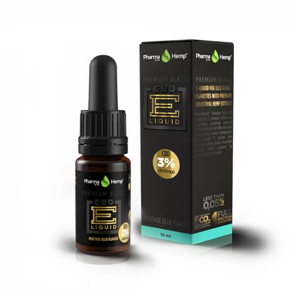 PREMIUM BLACK CBD E-LIQUID3% | 10ml PharmaHemp