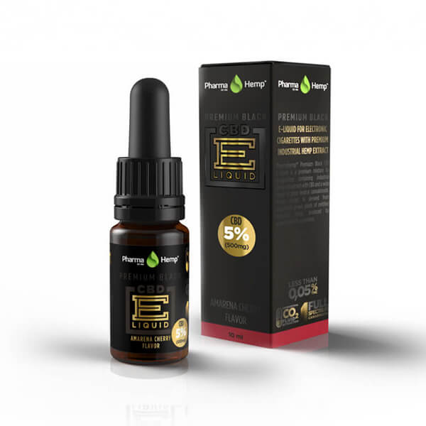 PREMIUM BLACK CBD E-LIQUID5% | 10ml PharmaHemp
