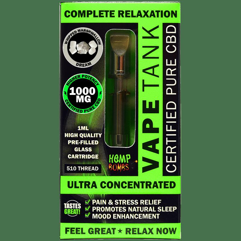 1000mg CBD Vape Tank Cartridge Hemp Bombs
