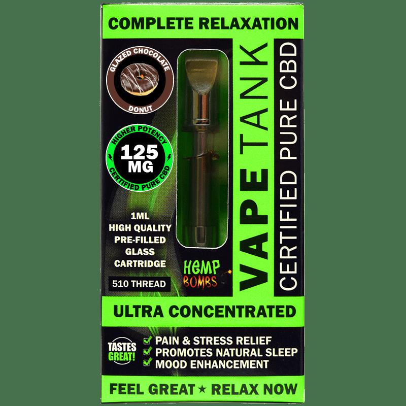 125mg CBD Vape Tank Cartridge Hemp Bombs