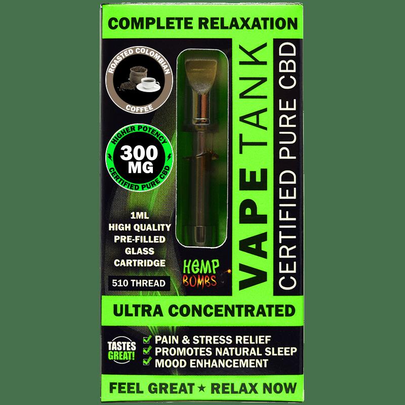 300mg CBD Vape Tank Cartridge Hemp Bombs