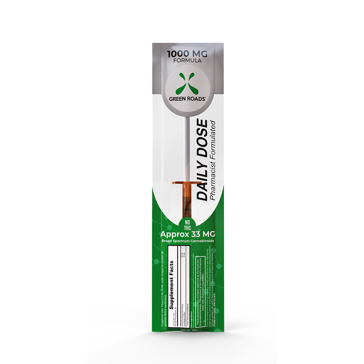 CBD Daily Dose – 1000 mg Formula Green Roads CBD