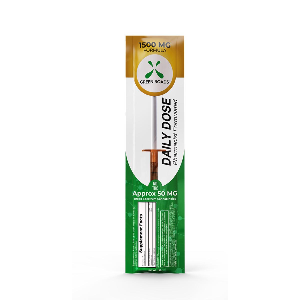 CBD Daily Dose – 1500 mg Formula Green Roads CBD