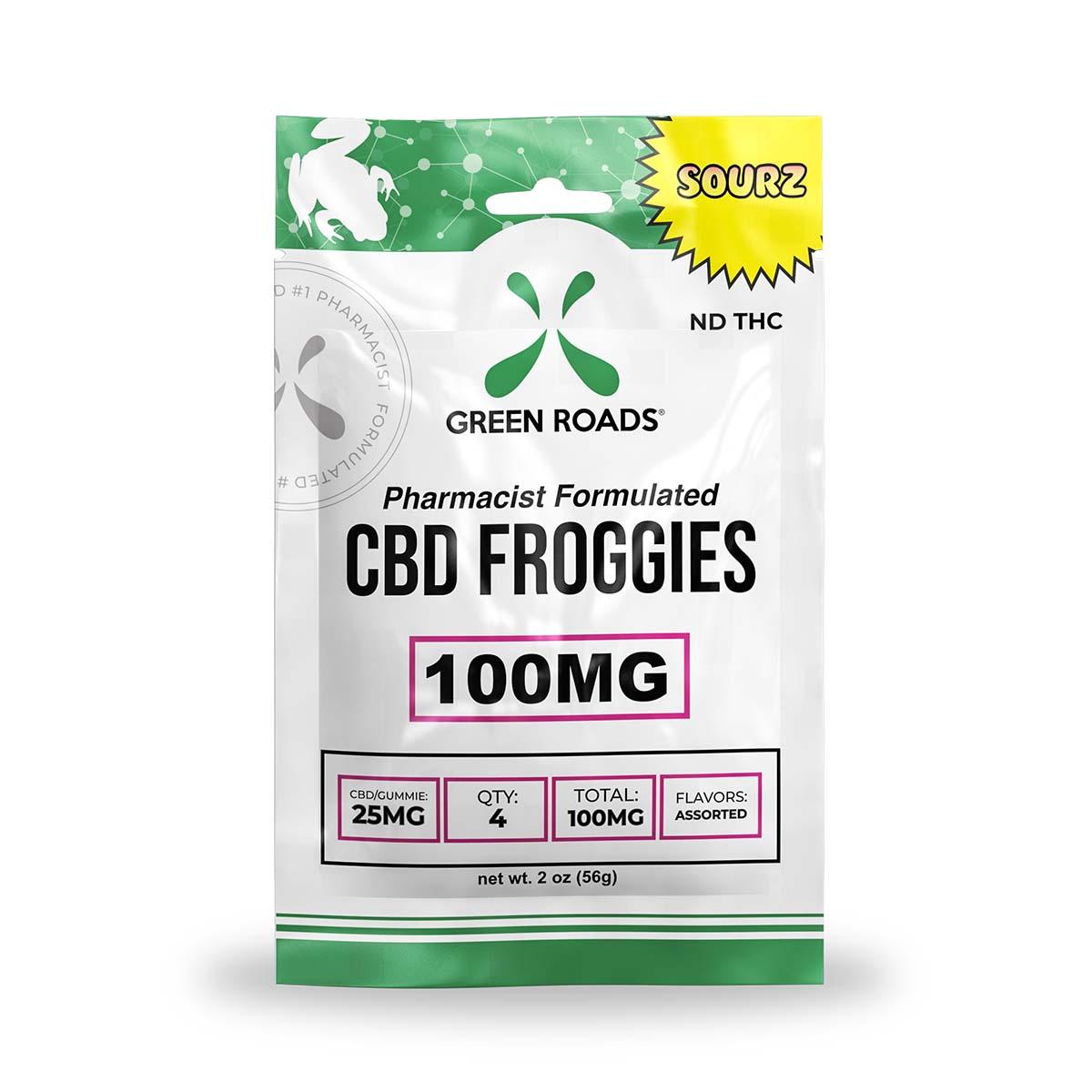 CBD Sourz Froggies – 100 MG Green Roads CBD