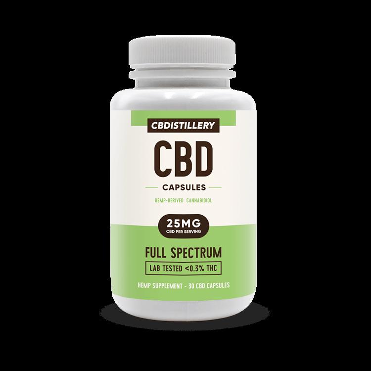CBD Pill Capsules – 25mg – 30 count CBDistillery