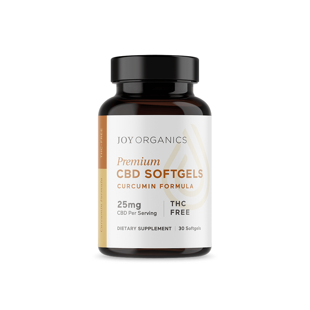 CBD Softgels with Curcumin Joy Organics