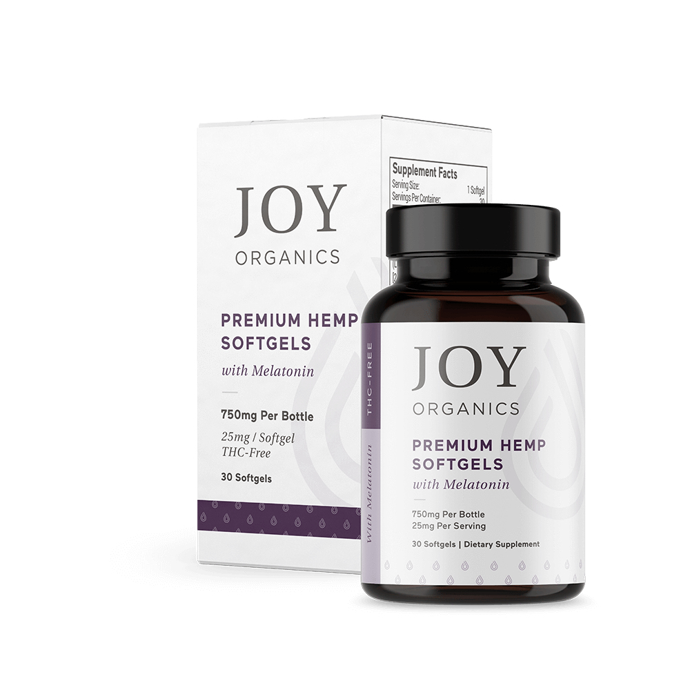 CBD Softgels with Melatonin for Sleep Joy Organics