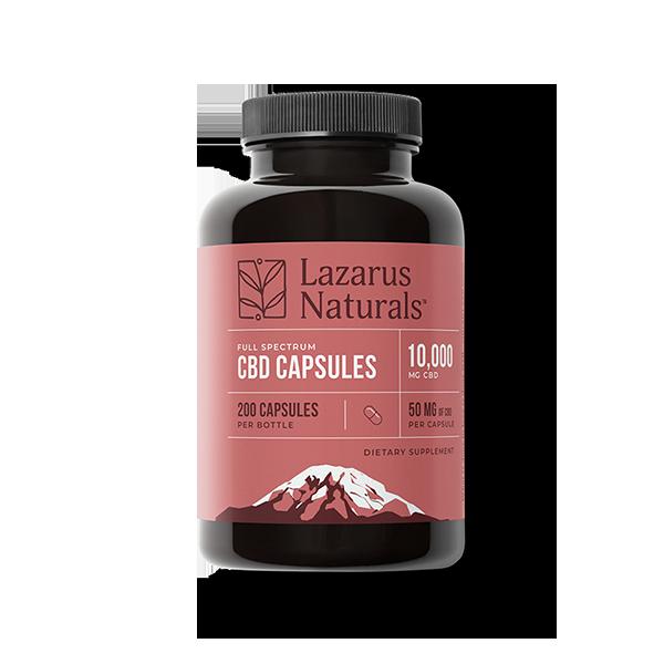 50mg CBD Capsules Lazarus Naturals