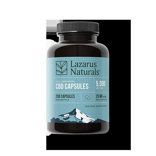 25mg CBD Capsules Lazarus Naturals