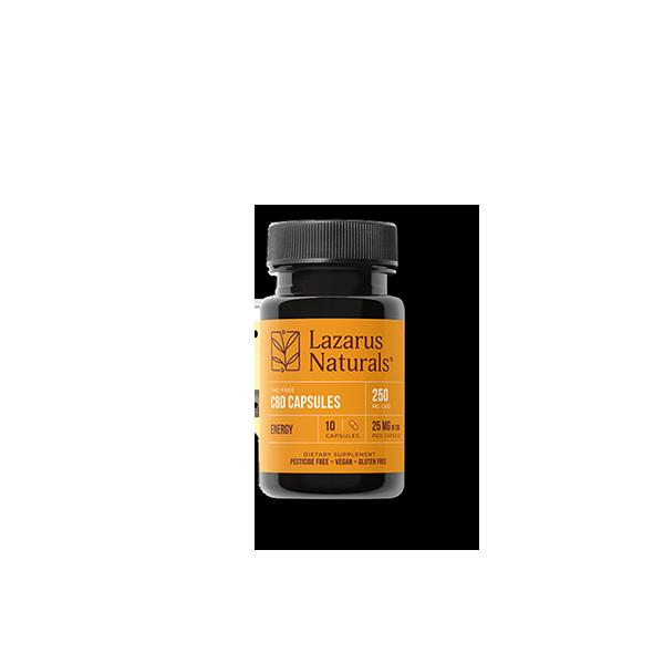 Energy Blend 25mg CBD Isolate Capsules Lazarus Naturals