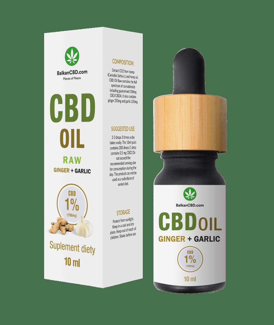 CBD Oil 1% garlic + ginger |100 mg HempKing