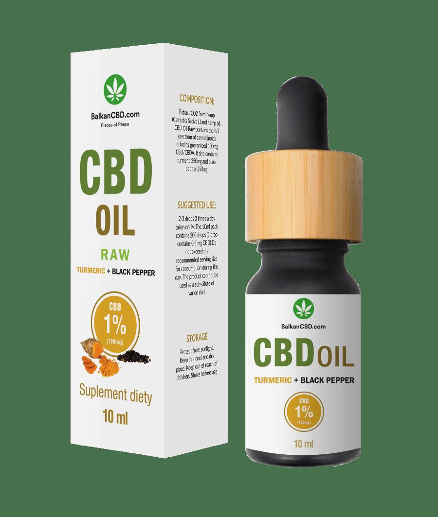CBD Oil 1% tumeric + black pepper HempKing | 100mg HempKing