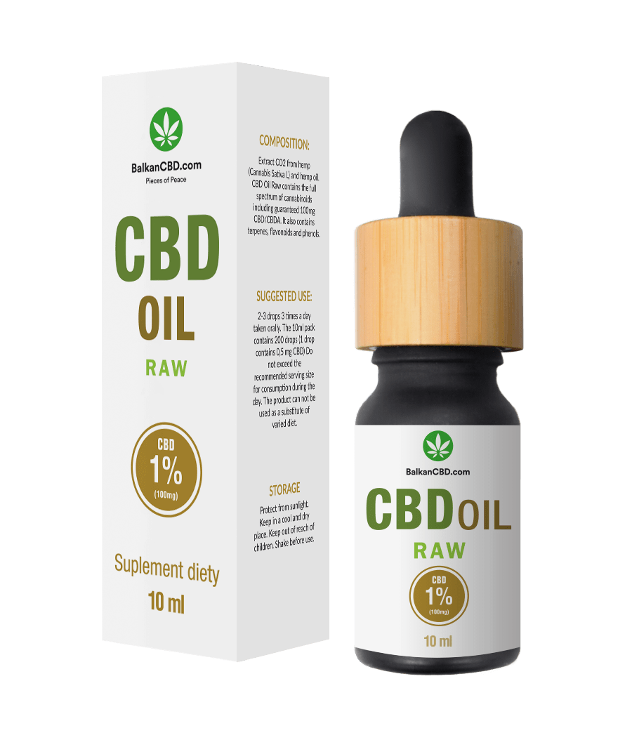 CBD oil 1% raw HempKing | 100mg HempKing