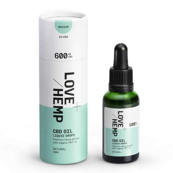 Love Hemp® CBD Liquid Oral Oil Drops 600mg CBD Love Hemp