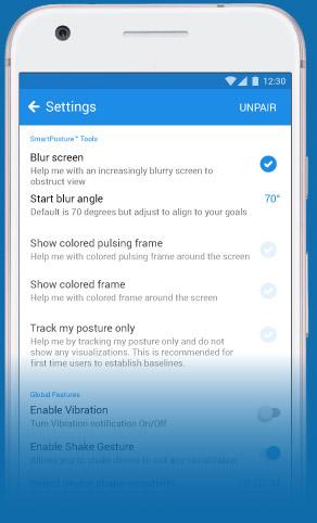 Smartposture posture app