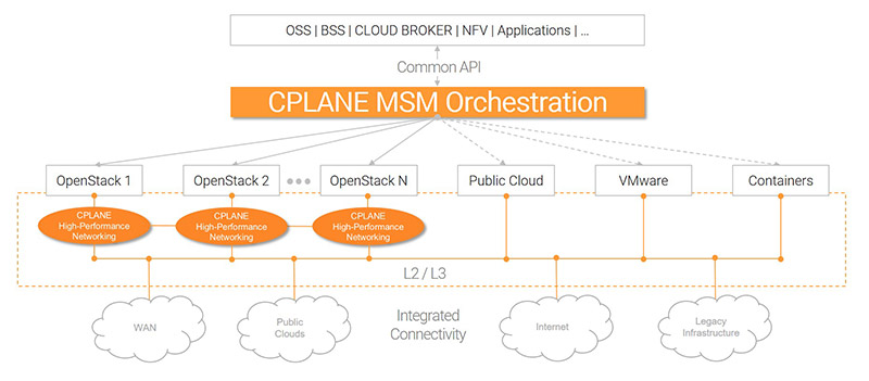CPLANE NETWORKS Multi-Site Manager Architecture