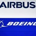 Combinaison réalisée le 5 mars 2021 des logos d'Airbus et Boeing