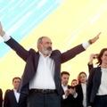 Le Premier ministre arménien Nikol Pachinian lors d'un meeting de campagne le 17 juin  2021 à Erevan