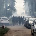 La police anti-émeutes ivoirienne à Abidjan, le 17 juin 2021