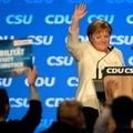 La chancelière allemande Angela Merkel lors du dernier meeting de l'Union conservatrice CDU/CSU à Münich, le 24 septembre 2021