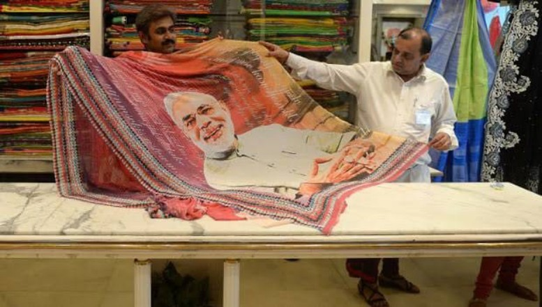 """""""ITS NOT ONLY MODI WAVES, SAREES TOO!!"""""""